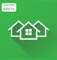 house icon business concept home apartment vector image vector image