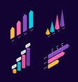 isometric 3d charts vector image vector image