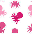 little cute octopus seamless pattern background vector image vector image