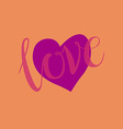 love heart shape design for love symbols vector image