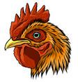 mascot rooster head art vector image vector image