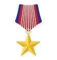 Medal with star cartoon icon vector image vector image