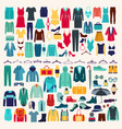 men and women clothes icon set vector image vector image
