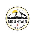 mountain adventure logo design vector image