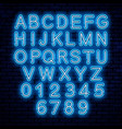 neon letters blue and white vector image vector image