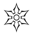Ninja shuriken star weapon icon outline style