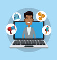 online start up business vector image