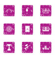 paintball competition icons set grunge style vector image vector image