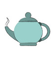 porcelain kettle isolated vector image vector image
