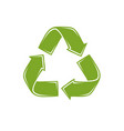 recycle sign waste recycling ecology vector image