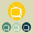 Retro tv icon vector image vector image