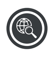Round black global search sign vector image