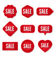 sale stickers collection set promotional vector image vector image