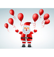 santa claus flying balloon vector image vector image