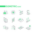 science and medicine - modern line isometric icons vector image