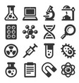 science icons set on white background vector image vector image