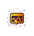 seo marketing icon web targeting sign traffic vector image vector image