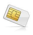 Sim Card on White Background vector image vector image