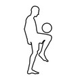 soccer player juggling ball with his knee or vector image
