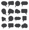 speech bubles simpe3 resize vector image vector image