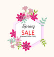 spring sale background with beautiful flower vector image vector image