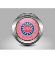 Stars and Stripes Flag Metal and Glass Round Icon vector image vector image