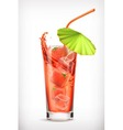 Strawberry cocktail icon vector image vector image