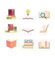 textbook set knowledge stack books folded vector image vector image