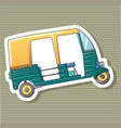 thai tuk sticker icon cartoon style