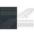 track chain blueprints tracked vehicles vector image vector image