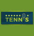 typography word tennis logo sport logotype with vector image