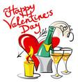 valentines day congratulations card vector image vector image