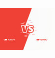 versus flat style background vector image vector image