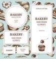 vintage bakery sketch background vector image vector image