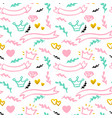 wedding party seamless pattern vector image
