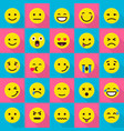 smile emoticons icons set flat style vector image