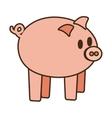 cartoon cute pink piggy money safety bank vector image