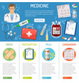 medical banner and infographics vector image