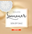selling ad banner vintage text design summer vector image