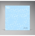 square Abstract background card shadow vector image
