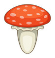 amanita muscaria mushroom icon cartoon style vector image