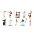 ancient greek gods cartoon cute legendary vector image