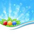 April background with Easter colorful eggs vector image vector image