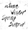 autumn winter spring summer in calligraphy vector image