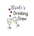 Bachelorette party template bridal shower print vector image vector image