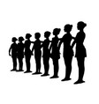 ballet dancers standing in a row vector image