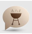 Barbecue simple sign Brown gradient icon on vector image vector image