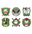 baseball team sport icons and emblems vector image