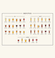beer styles guide colored icons horizontal