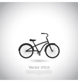 Bicycle icon on gray background vector image vector image
